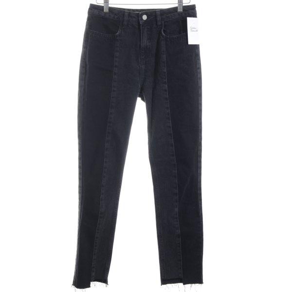 Nakd Skinny Jeans dunkelgrau-anthrazit Casual-Look