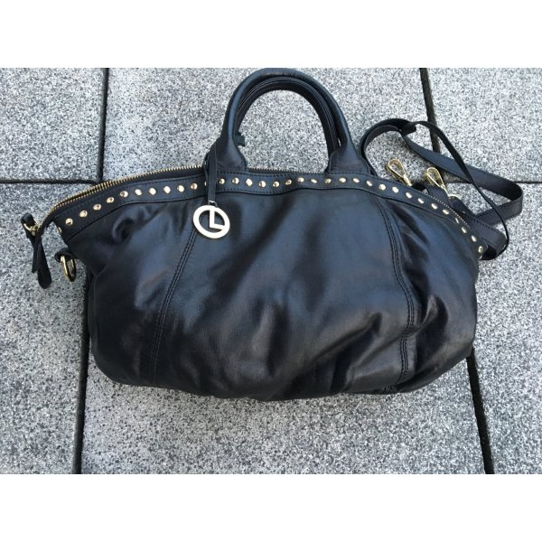 L.credi Carry Bag black leather