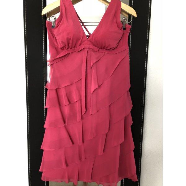 Neckholder-Kleid in schönem nicht zu knalligem pink, Gr. 40/42, vom Swing