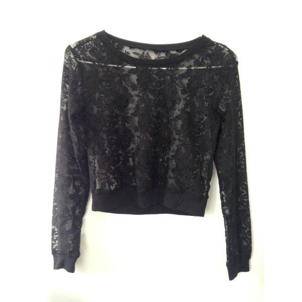 netz spitze mesh jumper bluse oberteil schwarz m dchenflohmarkt. Black Bedroom Furniture Sets. Home Design Ideas
