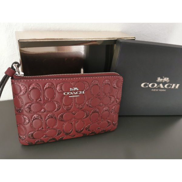 *Neu* Coach Clutch bordeaux mit Glitzer mit Geschenkbox