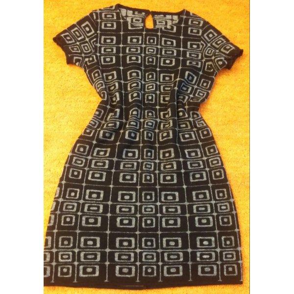 NEU Damen Kleid Wolle M o hairmix Gr.38 gemustert