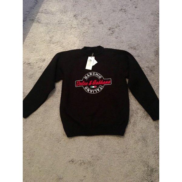 Neu ! Dolce & Gabbana Pullover, Schwarz, Gr. XL