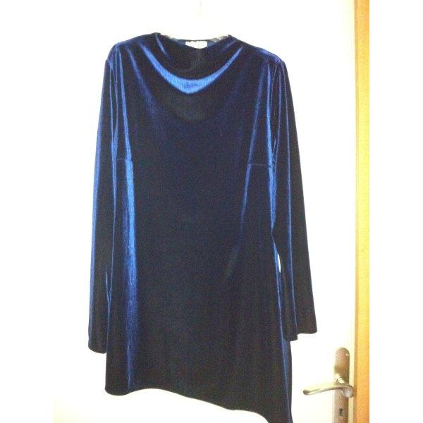 NEU! Elegante Langbluse aus Samt, tolle nachtblau Farbe...