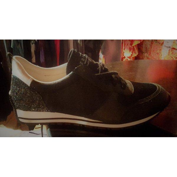 Neu Esprit Lived in and loved Schuhe/Sneaker schwarz glitzer