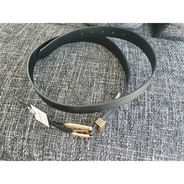 C&A Faux Leather Belt black-gold-colored