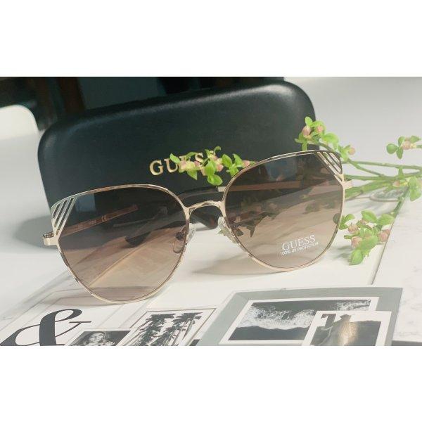 ❤️ Neu!!! Guess Sonnenbrille gold Damen Cat Eye