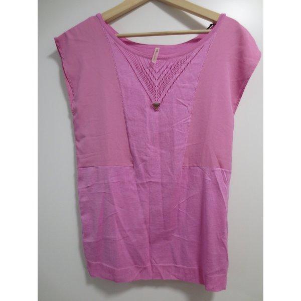 NEU, Guess zartes kurzarm Shirt, Gr. 36/S, pink, Feinstrick-Viskose