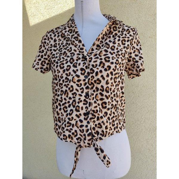 Neu H&M Bluse Leopard Gr.XS 34
