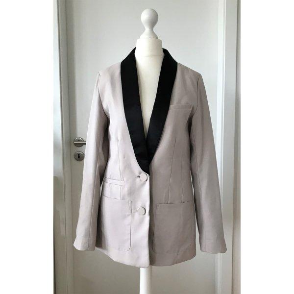 NEU H&M Damen Blazer XS 34 Oversize Mantel Maxi Business Sakko Elegant Silvester