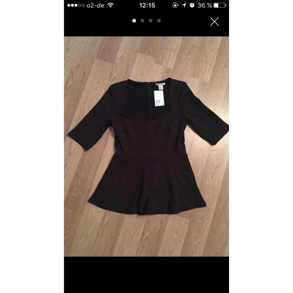 H&M Vestido estilo camisa negro