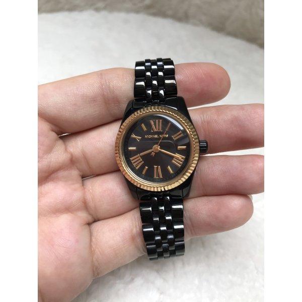NEU Michael Kors Armbanduhr für Damen in schwarz mit gold