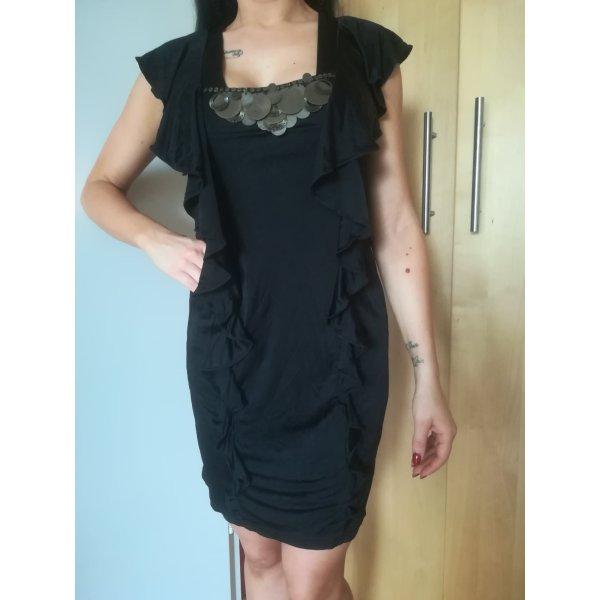 Neu mit Etikett: Karen Millen Kleid mit Goldplaettchen und Volants