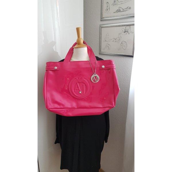 Neu mit Etikett Tasche von Armani Jeans Pink Lack