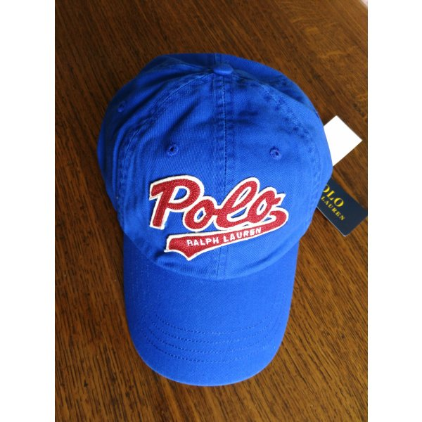 neu Polo Ralph Lauren Cap Kappe Baumwolle Blau unisex Basecap