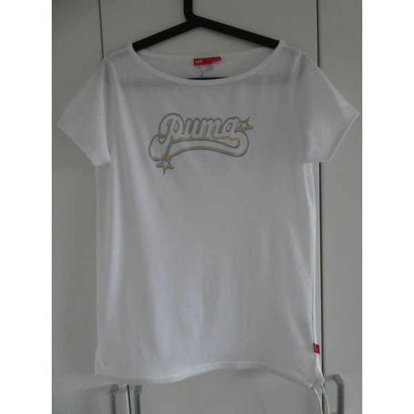 NEU – Puma  – T-Shirt, weiß mit Aufdruck