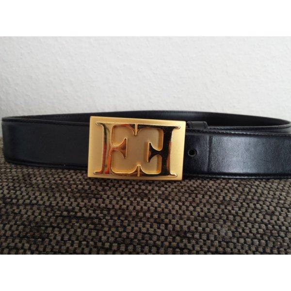 Escada Cinturón de cuero negro Cuero