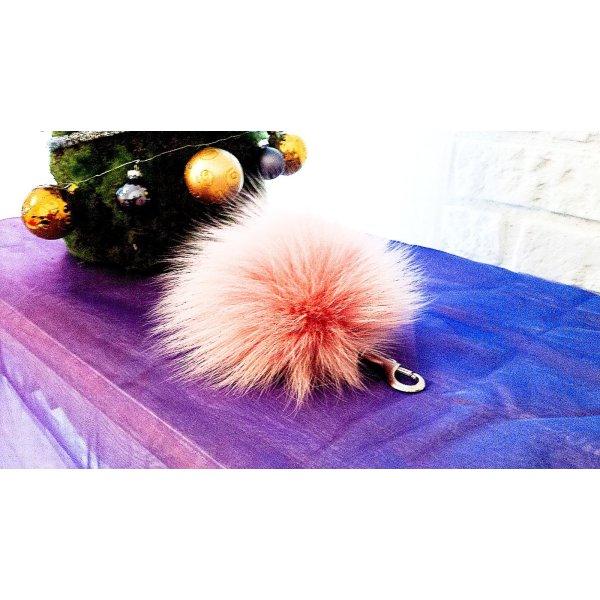 Porte-clés rose-rosé pelage