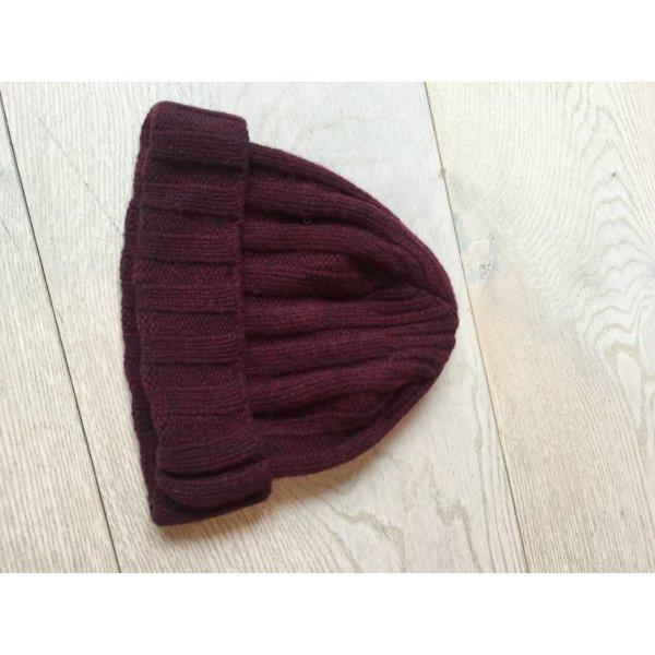 Woolrich Chapeau en tricot rouge carmin laine