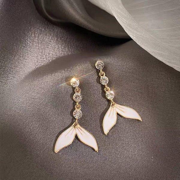 Lily Orecchino a pendente oro-bianco