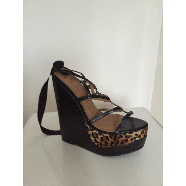 Platform High-Heeled Sandal black-brown
