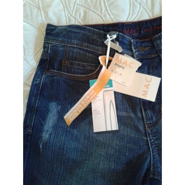NEUE !!! MAC JEANS IM USED LOOK; GR.: 36/34,SUPER SLIM FIT,POWER DENIM,VP: 89,95 EURO !