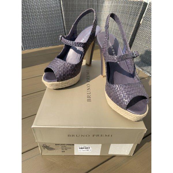 Neue Schuhe, Sandaletten, Bruno Premi, Gr. 39, Euro 159,90, blauviolett, High Heels, Plateau