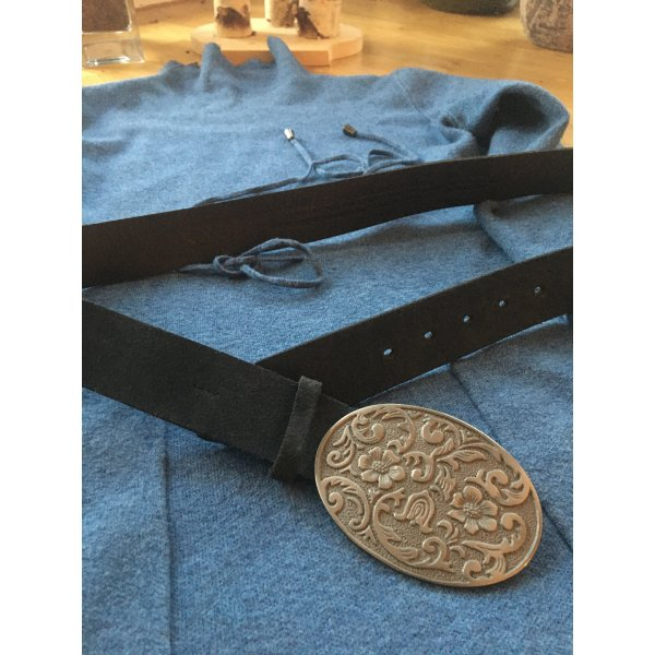 Mexx Leather Belt dark blue leather