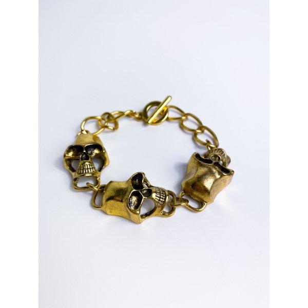 Neues, beliebtes Statement Armband aus London - Skull - Totenköpfe - Halloween - Gliederarmband