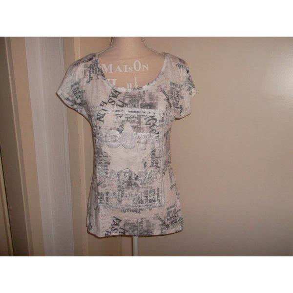 neues shirt,blind date,gr. 34.bunt gemustert,druck,glitzer