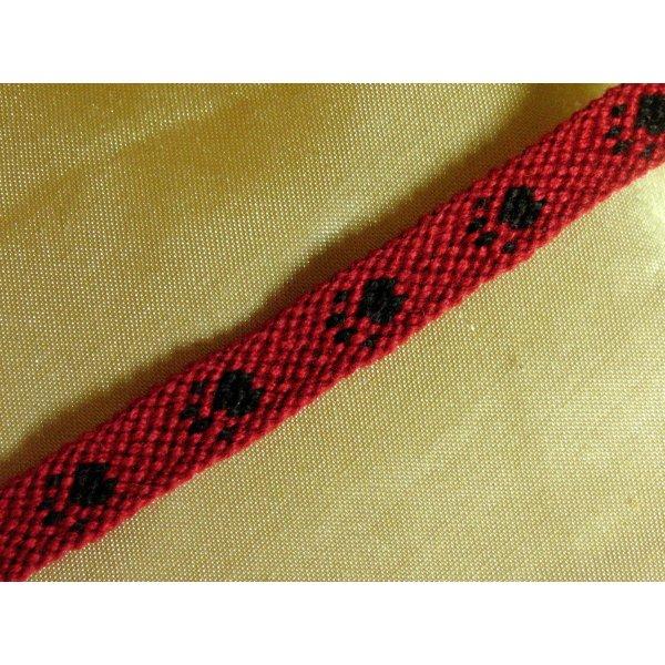 Friendship Bracelet red-black cotton