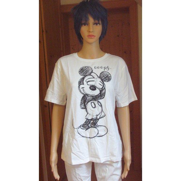 Disney Print Shirt white-black cotton