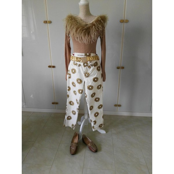 Guess Pantalón blanco puro-camel