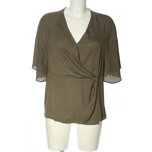 New Look Kurzarm-Bluse khaki Casual-Look