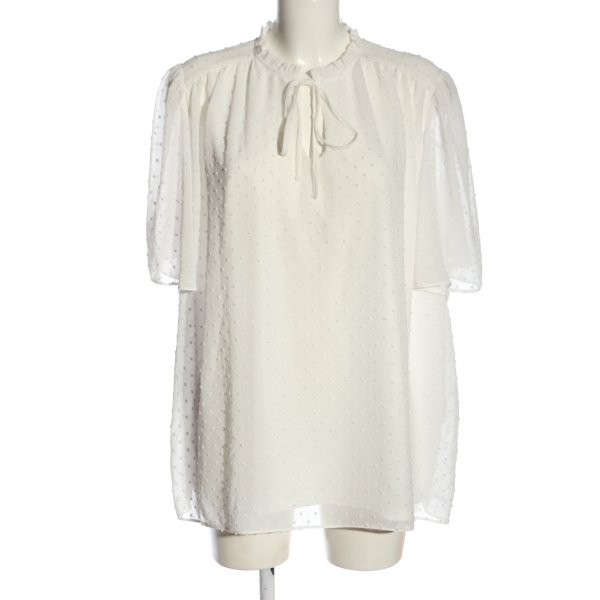 New Look Kurzarm-Bluse weiß Elegant