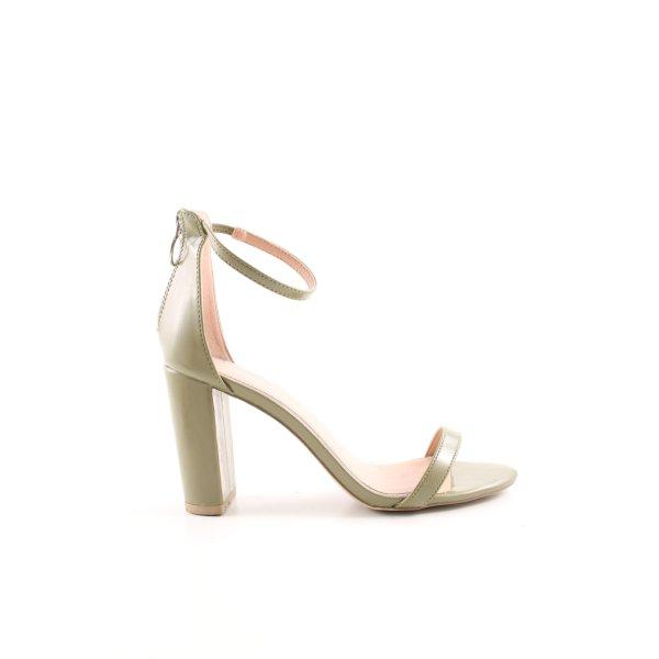 New Look Riemchen-Sandaletten grüngrau schlichter Stil
