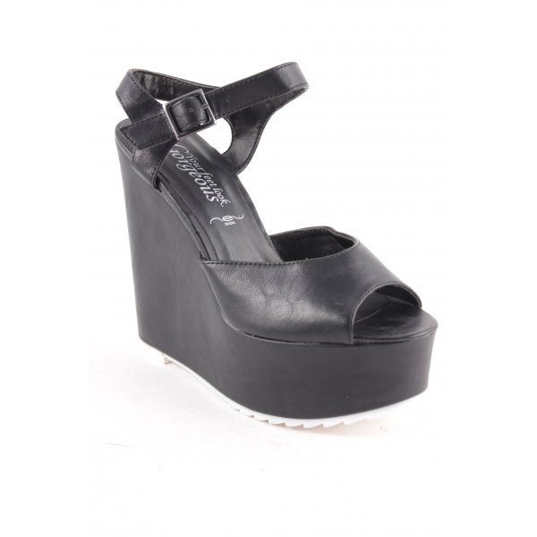 New Look Wedge Sandals black extravagant style