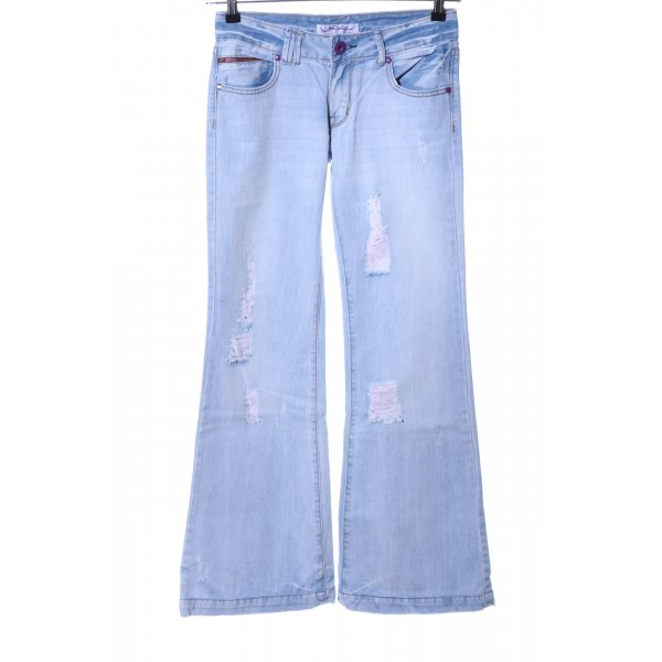 Newplay Boot Cut Jeans blau Casual-Look