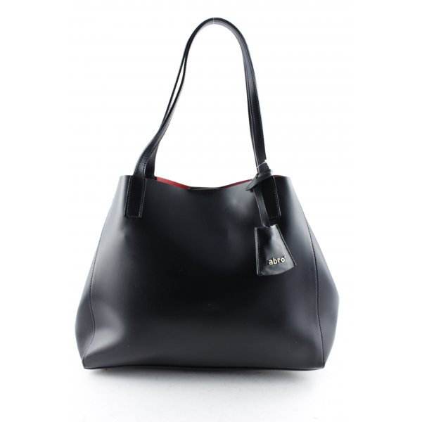 abro Carry Bag black-red leather