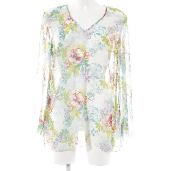 Nienhaus Woman Transparenz-Bluse Blumenmuster Casual-Look