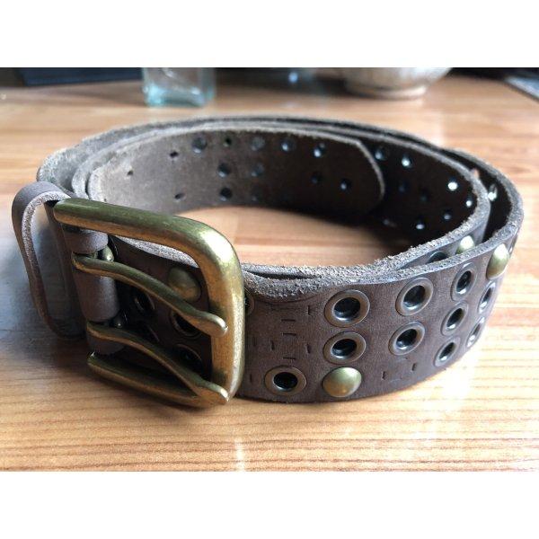 no name Studded Belt bronze-colored-light brown