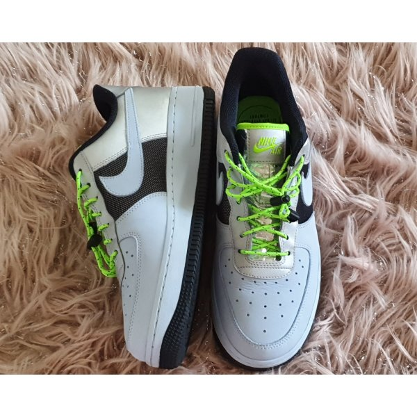 Nike Air Force 1 Lo Celestine Metallic neon sneaker Turnschuh neon Silber