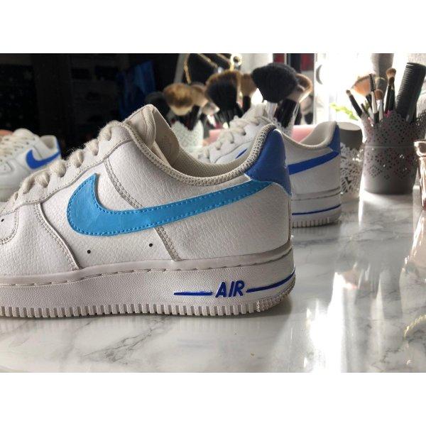 Nike Air Force One Costum! Weiß, blau