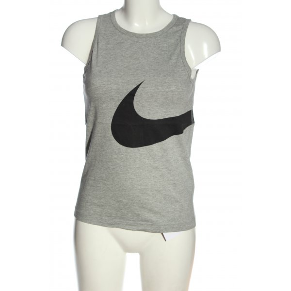 Nike Basic Top hellgrau-schwarz meliert sportlicher Stil