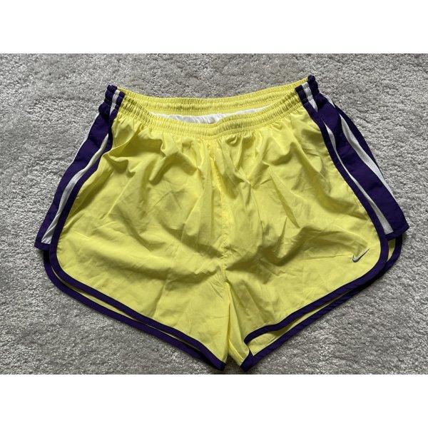 Nike Dri-FIT Laufshorts Shorts Sport gelb blau
