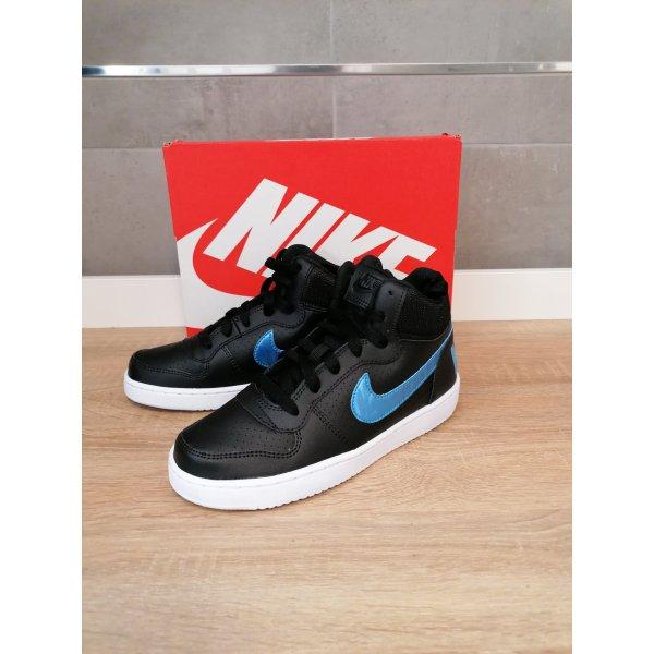 Nike Hi Top Sneaker schwarz neu Leder 37.5