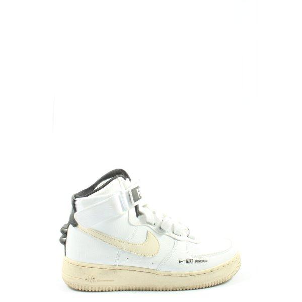Nike High Top Sneaker weiß-wollweiß Casual-Look