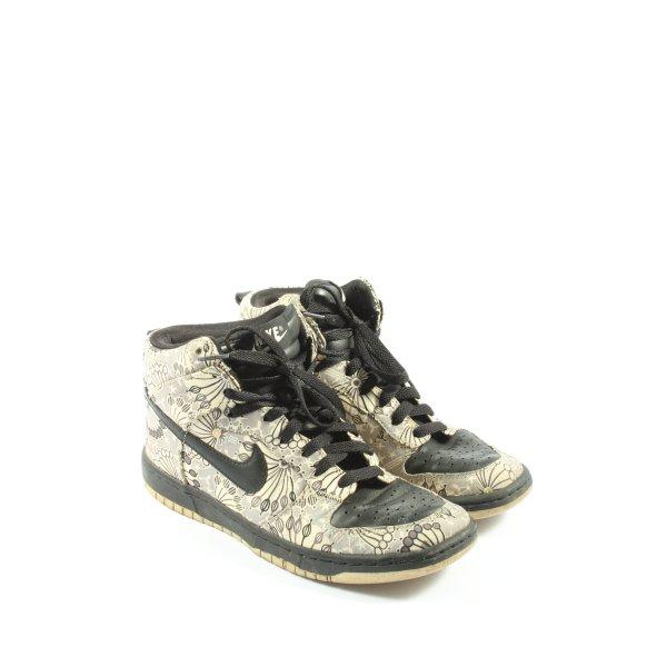 Nike High Top Sneaker wollweiß-hellgrau abstraktes Muster Casual-Look