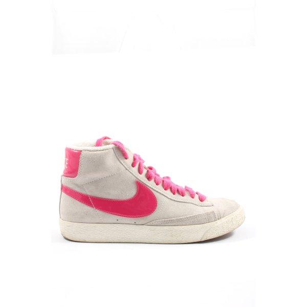 Nike High Top Sneaker hellgrau-pink Casual-Look