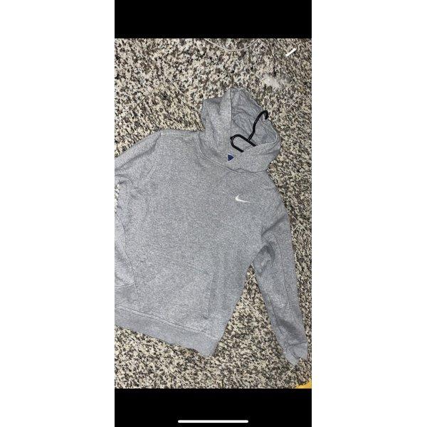 Nike Pull à capuche gris clair-blanc